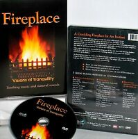 Fireplace: Visions Of Tranquility Dvd, Classical, Christmas,crackling Fire