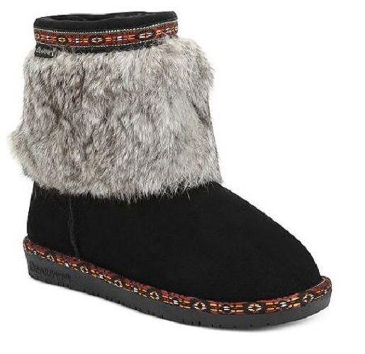 Bearpaw botas talla 6 para mujer botas botas botas De Clima Frío Lana Forrada de gamuza de piel verdadera negro  bajo precio