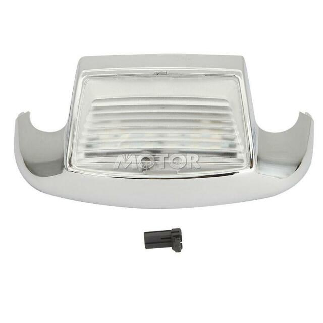 White Auxiliary Front Fender Tip Light Amber Lens for Harley Electra Glide FLHT