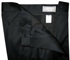 GIANNI-VERSACE-ITALY-EXTREMELY-RARE-COLLECTORS-ORIGINAL-BLACK-DRESS-PANTS-E50-32