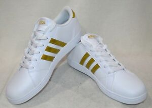 Details about adidas Baseline K White/Gold Boy/Girl's Sneaker - Sizes 6 NWB  CG5844