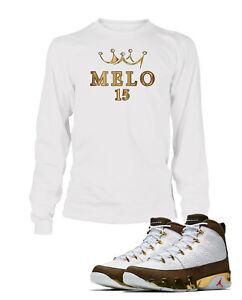 "bb8acbf95d66b1 Tee Shirt To match Air Jordan 9 ""MOP Melo"" Shoe Mens Custom Graphic ..."