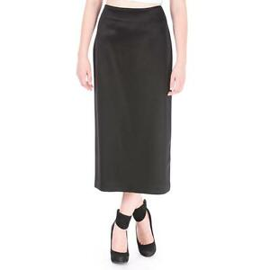 Creative Womens Maxi Skirt Black Bodycon Long Sidesplit Pencil  8 10 12 14