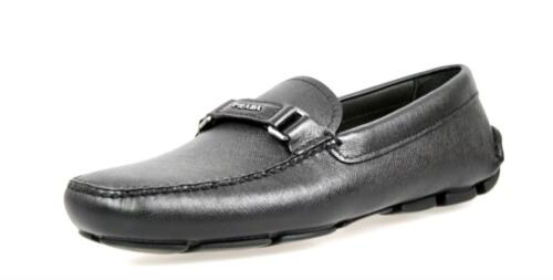Scarpe Saffiano Prada 2dd102 44 9 5 New di 5 lusso New Slipper 43 Black AgrEqZxAw