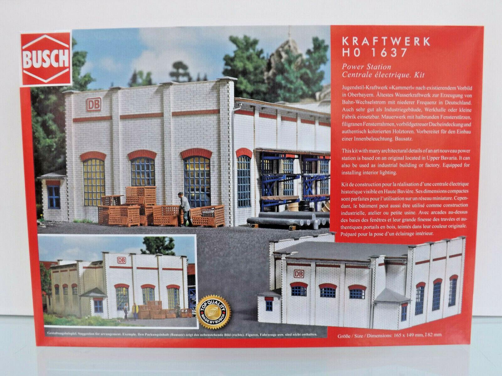 Busch 1637-h0 Kit-planta de energía-nuevo en caja original