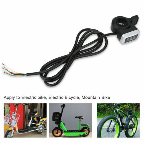 Universal Thumb Throttle Speed Control Handle Electric Bike Scooter 6 Wires❤GS