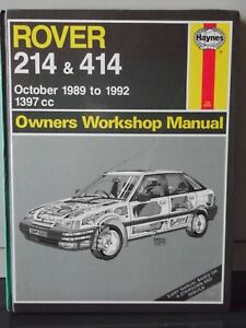 haynes rover 214 414 owners workshop manual 1397cc oct 1989 to rh ebay co uk Rover 214 Tuning Rover 214 1991 Loughton Essex