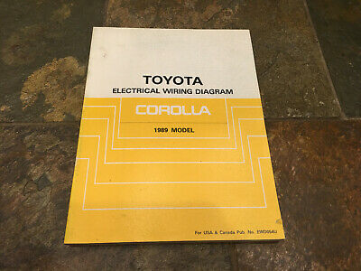 1989 Toyota Corolla Wiring Diagrams Electrical Service ...