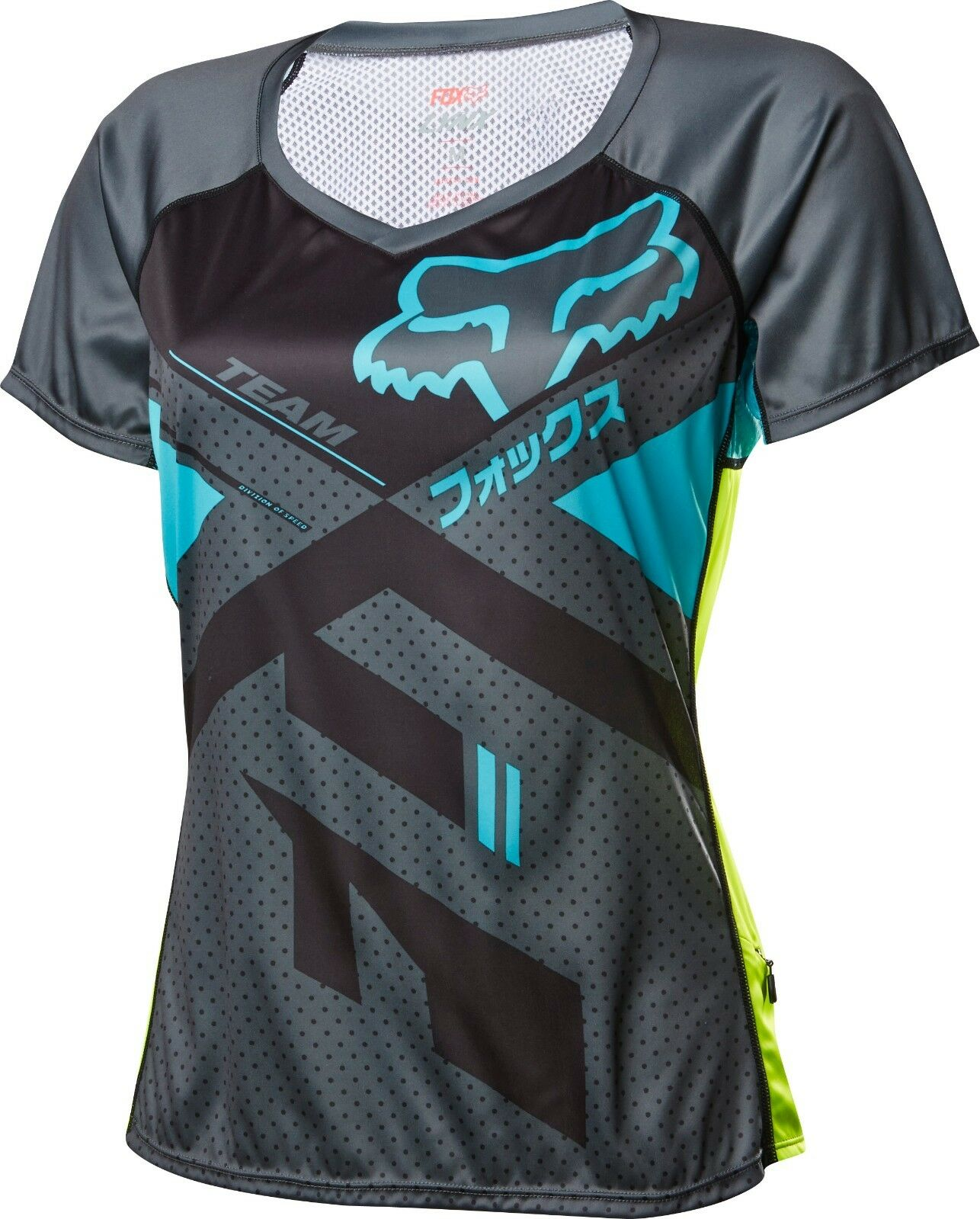 Fox Racing Womens Lynx Short Sleeve Jersey Charcoal