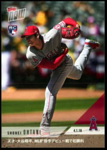 2018 Topps Now SHOHEI OHTANI Rookie RC Card English Japanese Variations AL ROY