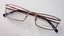 Spormann Metallfassung silber innen rot Unisexgestell Rahmen Brille occhiali M