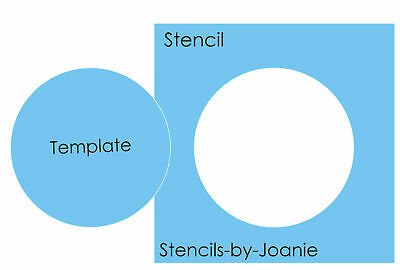 Triple Mini Dot Stencil Chic Art Circle Background Pigskin Craft Template Signs