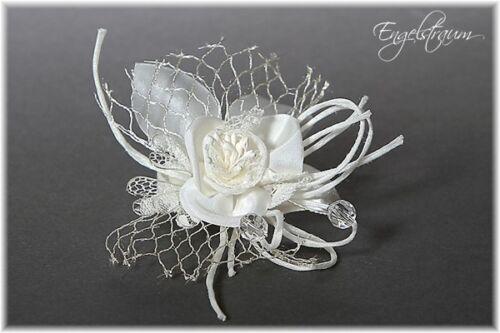 PK1 ANSTECKER Blume Kleid Hochzeitsanzug Hochzeit weiss creme