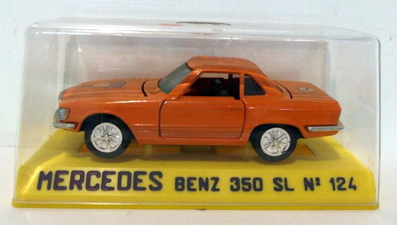 Joal 1 43 Appx Scale Vintage diecast - 124 Mercedes Benz  350 SL Orange    Gutes Design