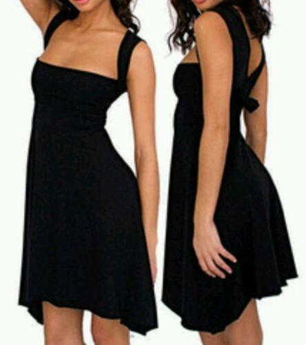 asymétrique Noir taille unique Apparel multicolore à Robe American qwBn4ApUxz