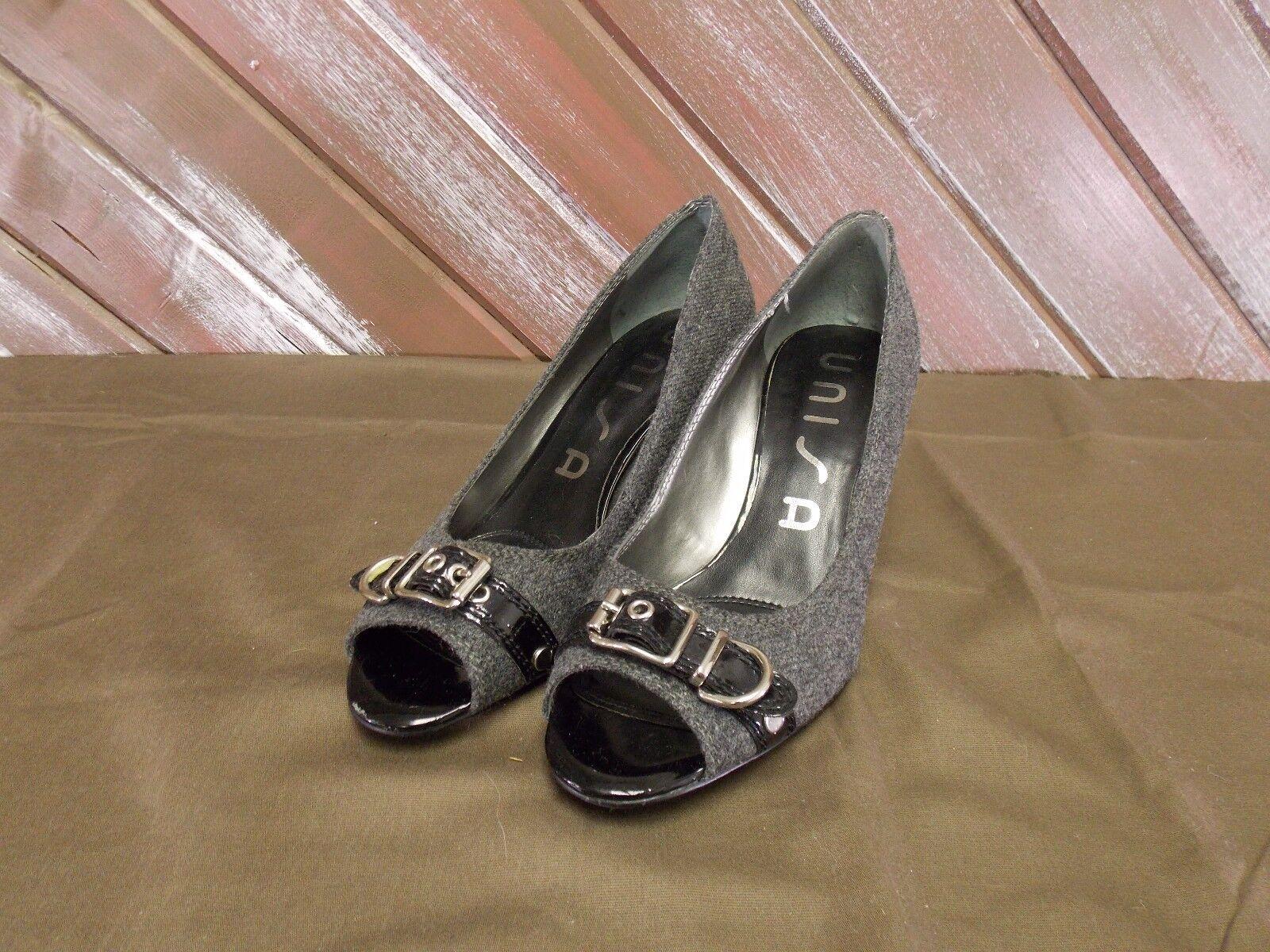 Unisa Shoes  Gray Heels Open Toed Women's Black & Gray  Size 8.5M 12e8d6