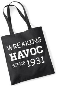 86th Geburtstagsgeschenk Einkaufstasche Baumwolle Neuheit Tasche Wreaking Havoc