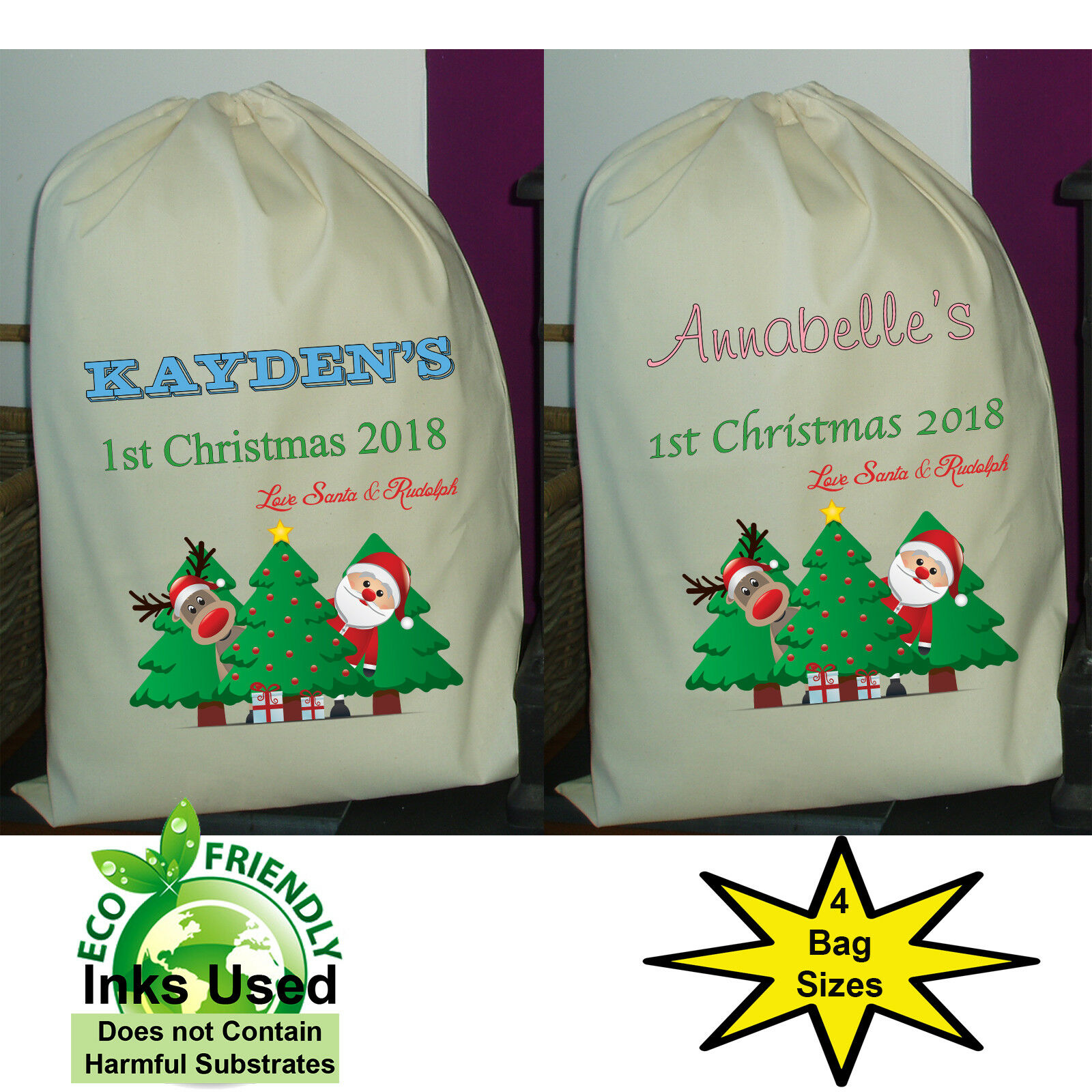 Personalized Santa Sack for Girls Personalized Santa Sack Girl Santa Sack Christmas Gift girl christmas gift Girl Christmas Bag