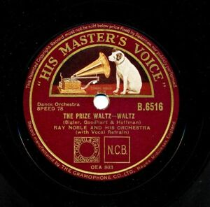 RAY-NOBLE-with-AL-BOWLLY-on-1933-HMV-B-6516-England-The-Prize-Waltz