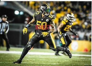 competitive price 239f7 811d6 Details about RYAN SHAZIER PITTSBURGH STEELERS COLOR 8X10 VS RAVENS  12/25/16 SUPER UNIFORM