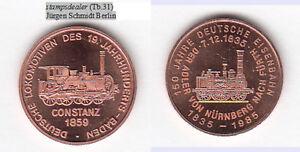 Baden-Dampflok-Constanz-Cu-Medaille-18-mm-Tb-31-stampsdealer