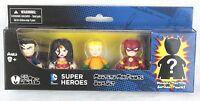 Dc Superheroes Mini Mezitz 5 Pack Superman Wonder Woman W Mystery Batman Figure