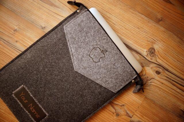 "MacBook Pro 13"" Retina Filz Hülle Tasche Case Hülle Tasche REIßVERSCHLUSS"