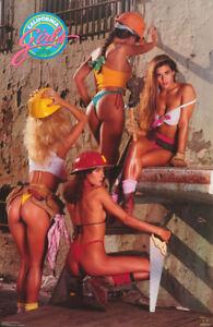 POSTER-CALIFORNIA-GIRLS-HARDHATS-SEXY-FEMALE-MODELS-FREE-SHIP-039-N-3215-RC6-T