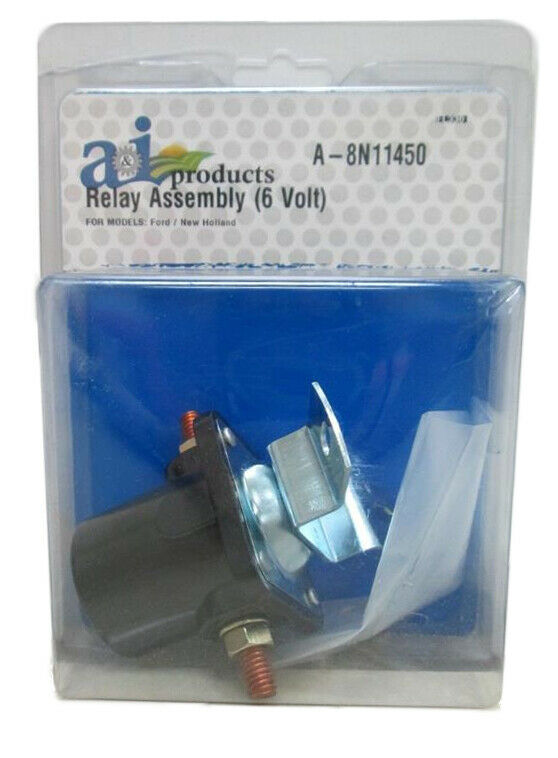 New Total Power Parts SFD6025 Solenoid Relay Compatible With//Replacement For 12 Volt Ford 2N 8N 9N Tractor 8N-11450 SW218 SW355