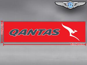 QANTAS AIRWAYS RECTANGULAR LOGO DECAL / STICKER