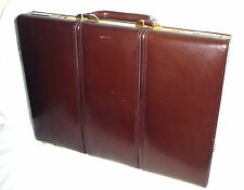 TUMI ALL LEATHER BRIEFCASE ATTACHE PADDED HARD SIDES 16.5 x 12 x 2  USED