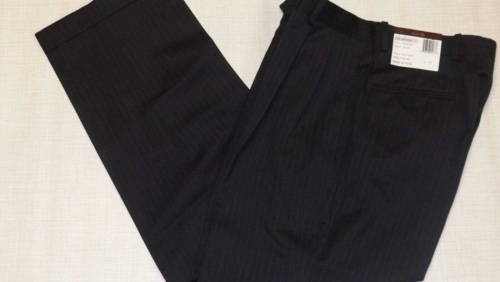 Men's Tasso Elba Pants  Grey Pinstripe 32x30
