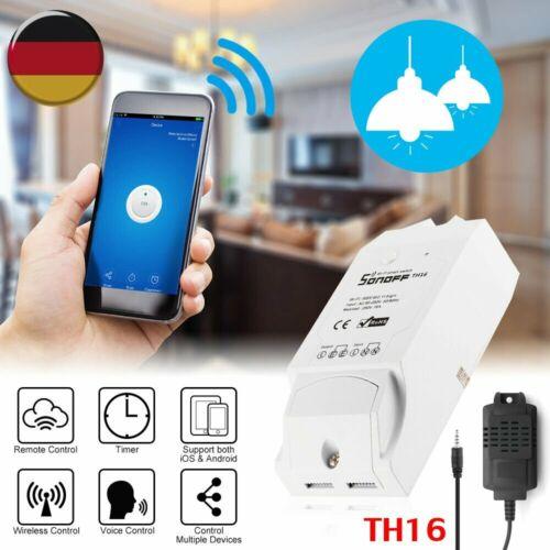 Sonoff TH16 Temperatur Feuchtigkeit Wi-Fi-Fernbedienung Smart Home Schalter 15A