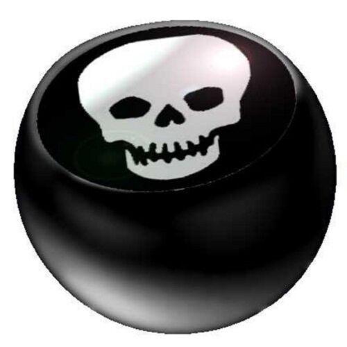 Piercing-bala joyas pelota negro acrílico calavera1,6 x 5 y 6 mm
