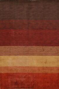 7x10-ft-Striped-Contemporary-Gabbeh-Oriental-Area-Rug-Hand-Knotted-Wool-Carpet