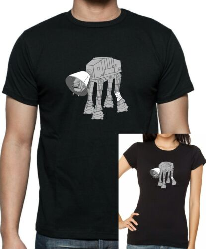 Star Wars AT-AT Cone of Shame T-Shirt  . Sizes Up to 5XL