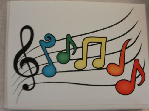 MUSIC NOTES BLANK NOTE CARDS-8PK