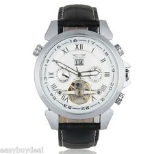 Mens Auto Mechanical Movement Watch Stainless Steel Wristwatch Date Day Function