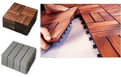 Ikea Runnen Wooden Floor Decking Tiles