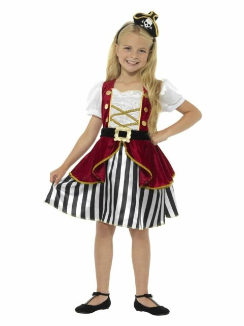 Deluxe Pirate Girl Wench Captain Caribbean Costume Buccaneer Fancy Dress Up