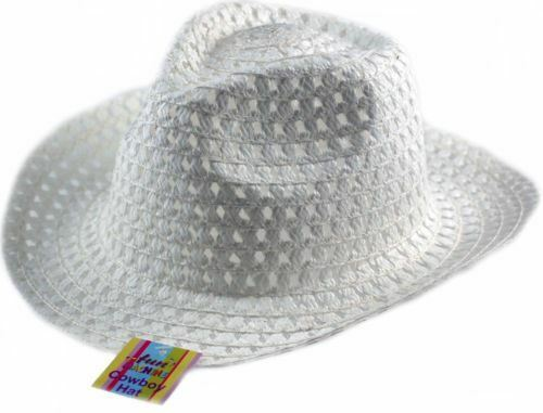 White Cowboy Hat Chldrens Hat Decorate With Chicks /& Eggs Easter