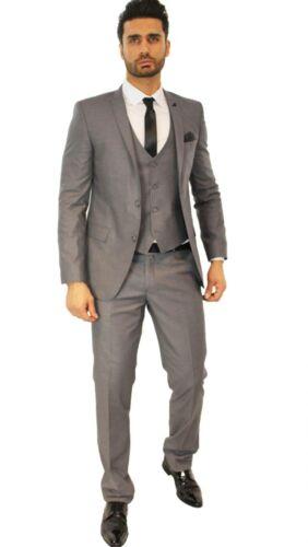 met in stropdas pak vest 48 getailleerd bijpassende bijpassende designer Grijs 8ON0PXknw