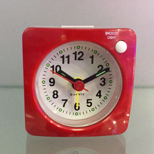 Non-ticking Travel Alarm Clock Small Silent Clock with Snooze Night Light 2.4/""