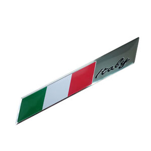 100mmx15mm Italian Flag Emblem Metal Badge Car Auto Motorcycle Decor Sticker  692654875464