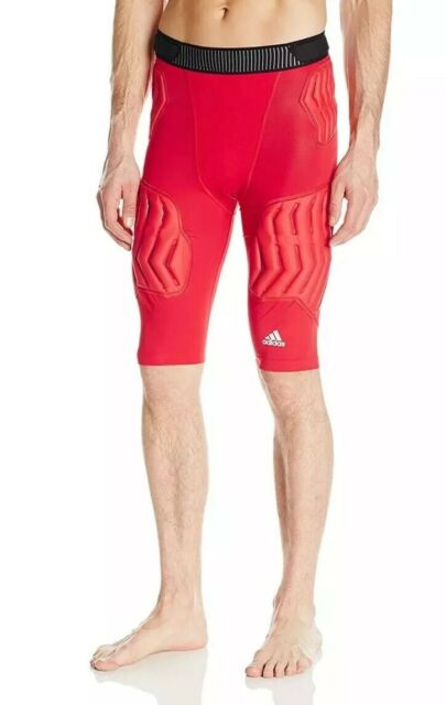 $50 Adidas TechFit Padded Compression Basketball Shorts Men's MEDIUM Red S05384