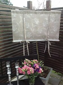 raffrollo rose rollgardine 160x100 shabby chic curtain landhaus ebay. Black Bedroom Furniture Sets. Home Design Ideas