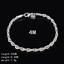 Women-925-Silver-Plated-Beads-Charm-Pendant-Bangle-Chain-Bracelet-Wristband-Gift thumbnail 40