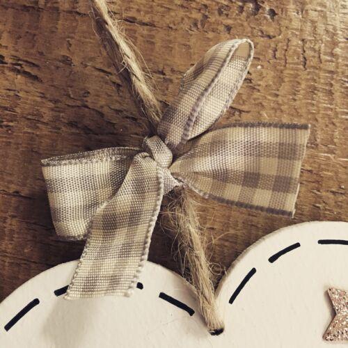 New Baby Gift Personalised Christening Plaque Boy//Girl Heart Present Keepsake