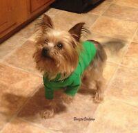 Green Turtleneck Dog Shirt Clothes Size Xxxs-medium