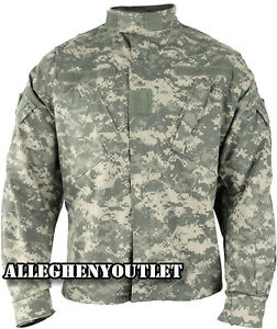 US Military COMBAT SHIRT / COAT  ACU Digital Camo 50/50 Ripstop Army USGI NWT